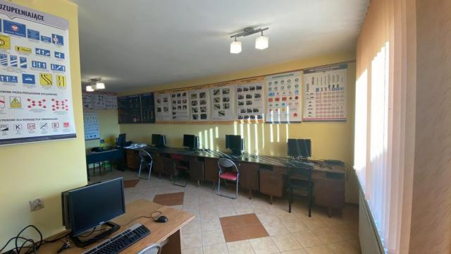 Nasza sala wykładowa w OSK Kaluza, Nauka Szkola Jazdy Sierpc